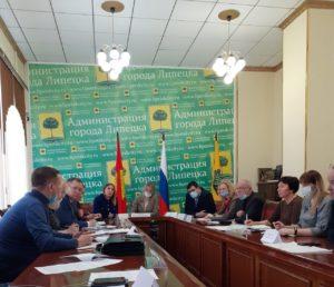 Заседание Общественного Совета по вопросам потребительского рынка в администрации города Липецк